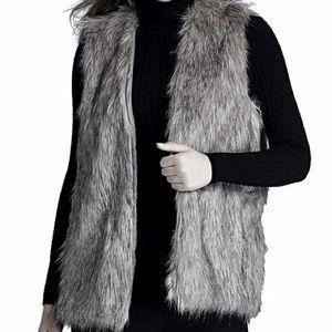 Xhilaration Gray Fur Vest